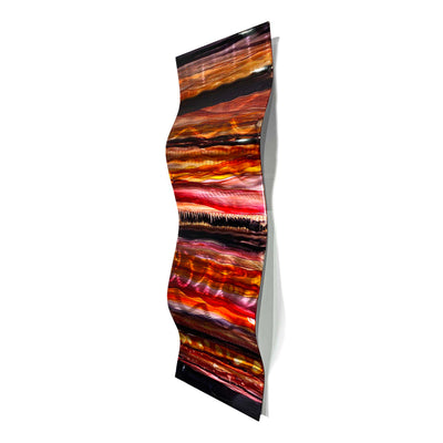 "Only One! EXTRA LARGE 57"" x 16"" Hand-Painted Jewel & Earthtone Fusion Wave  - JAC 1030 by Jon Allen"