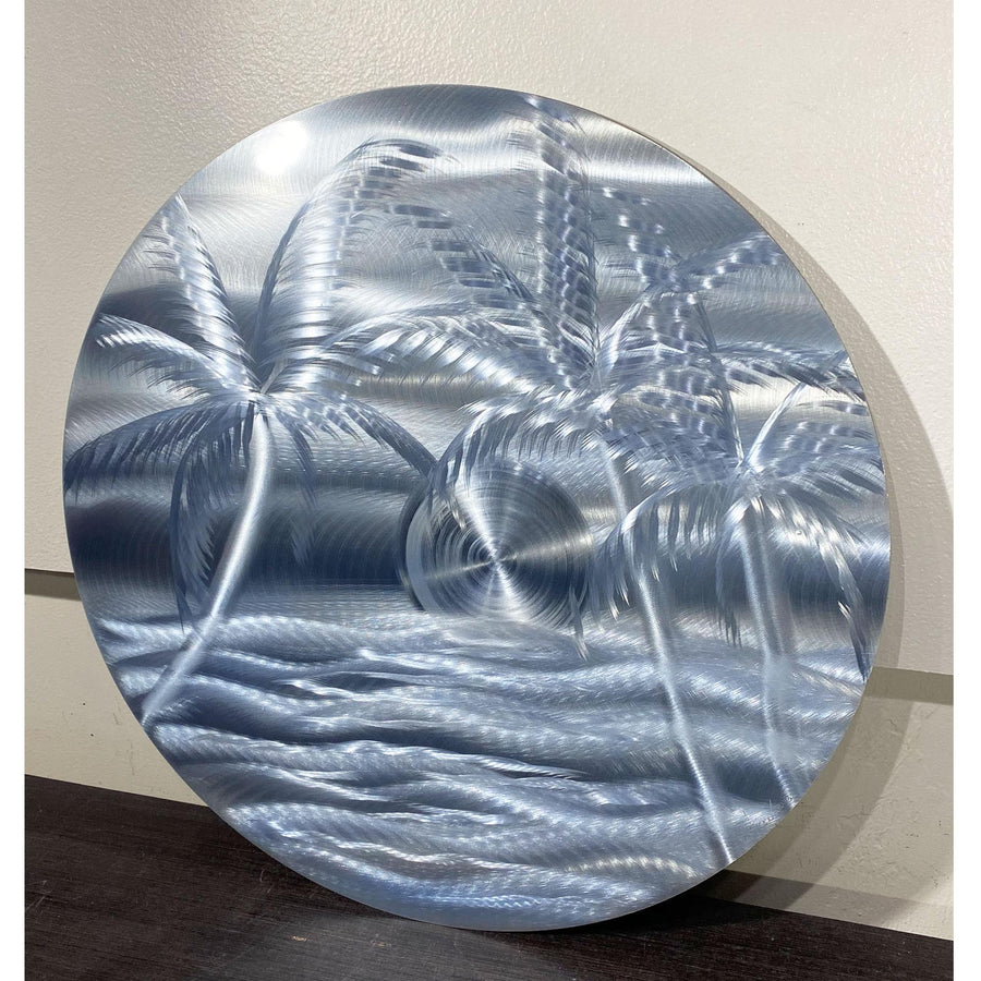 One of a Kind Metal Wall Sculpture - Circle Island