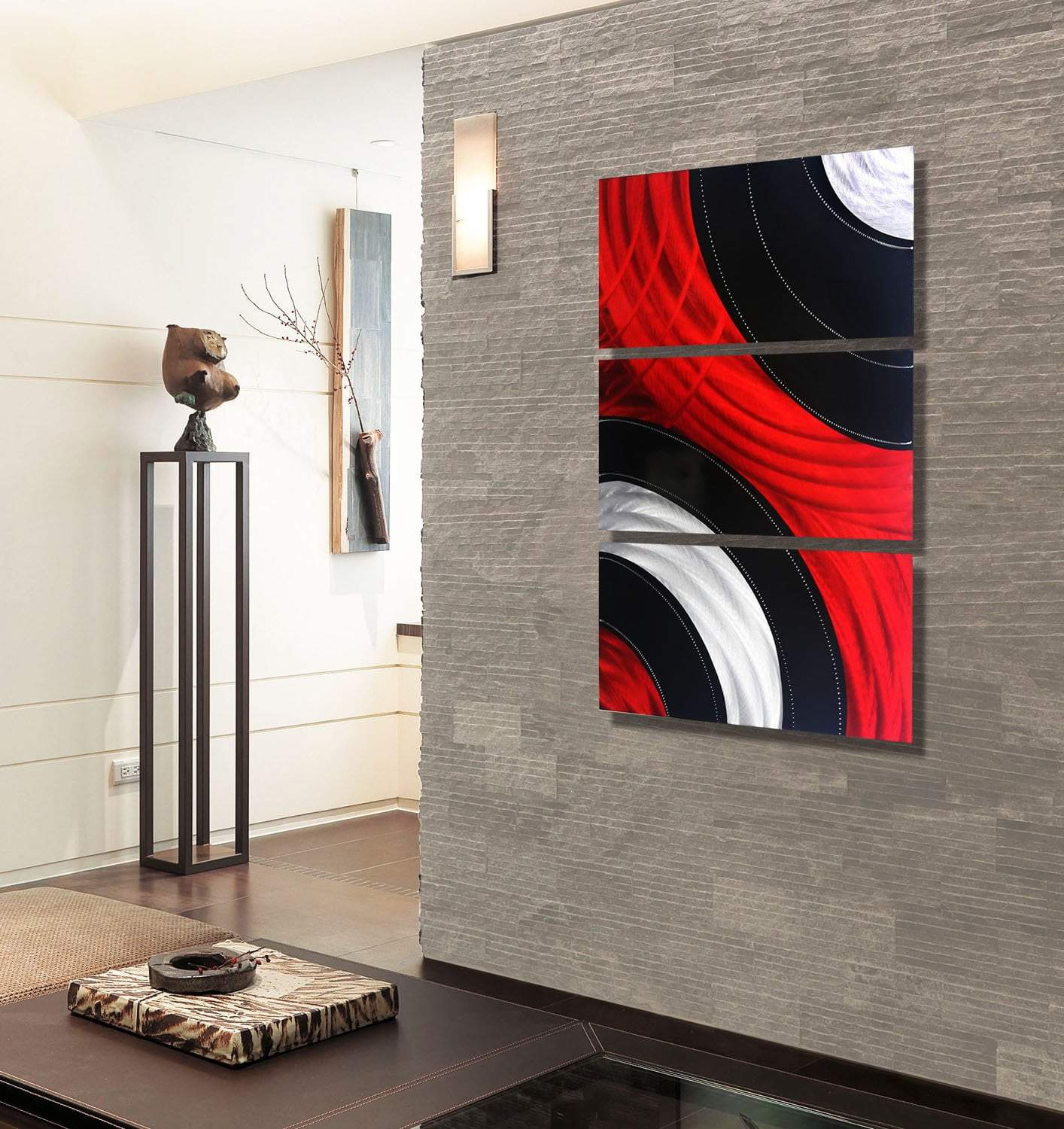 Statements2000 Modern Large Metal Wall Art Red Black Painting Decor Jon Allen