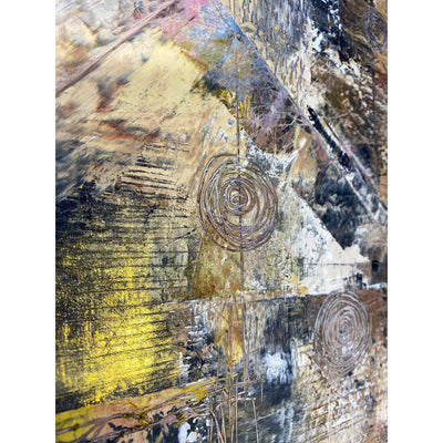"Earthtone Abstract Painting by Jon Allen 16"" x 16"" - HLE20"