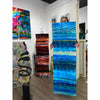 "Only One! EXTRA LARGE 57"" x 18"" Hand-Painted Blue & Aqua Wave - JAC 1029 by Jon Allen"