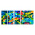 "Extra Large Colorful Modern Abstract Painting on Metal - Only 1! 84"" x 36"" Euphony XL"
