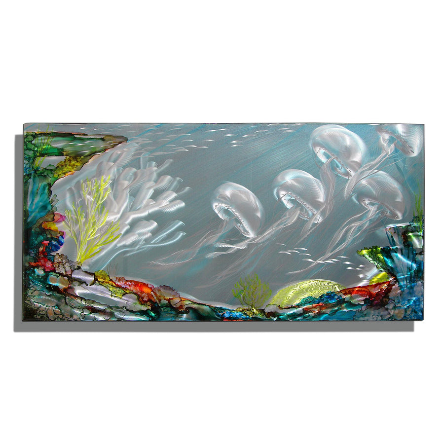 "Dynamic Underwater Tropical Original Painting! Only One! Tahitian Escape 36"" x 18"""