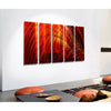 "54"" x 36"" - Only One - Vibrant Red and Orange Painting - Ruby Tuesday by Jon Allen"