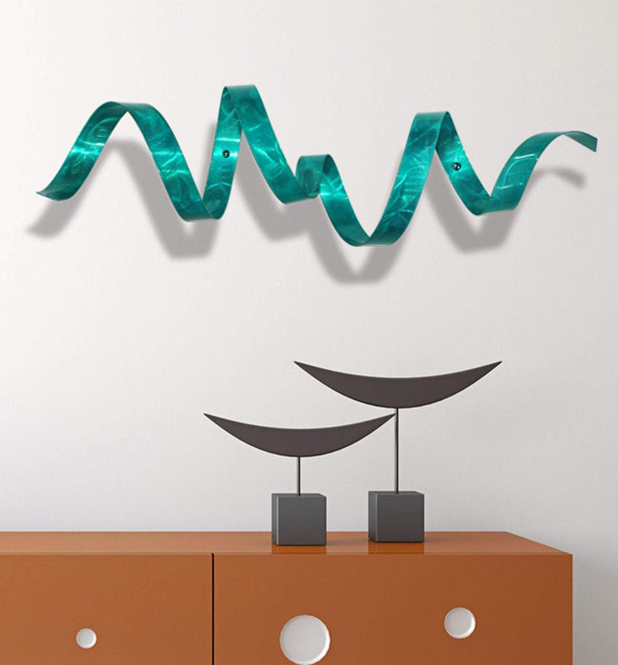 Teal Wall Twist