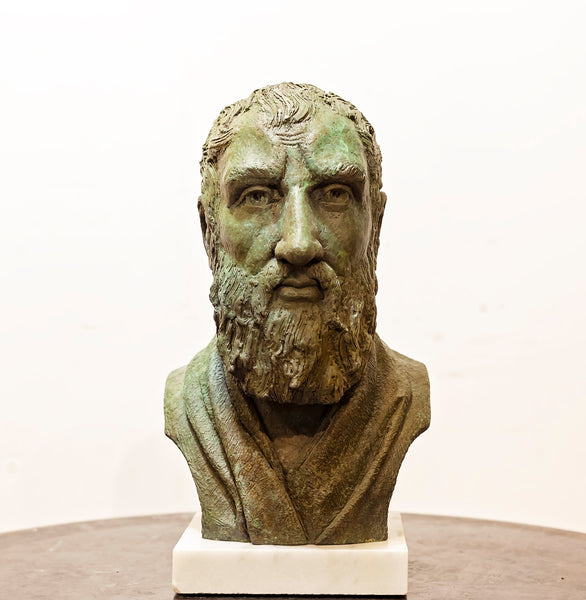 Zeno of Citium - bronze portrait bust
