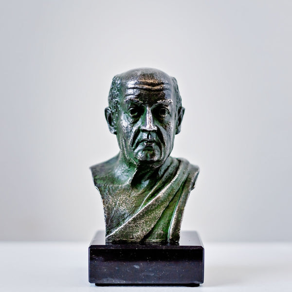 Seneca - pewter portrait bust - Daily Stoic exclusive!