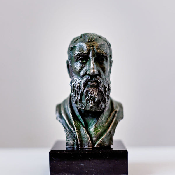 Zeno of Citium - pewter portrait bust