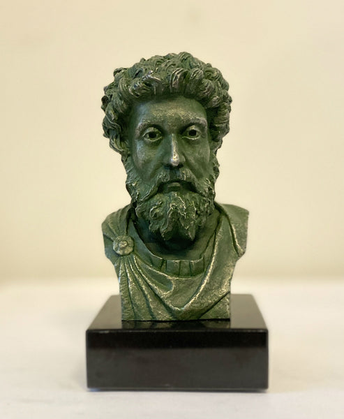 Marcus Aurelius - pewter portrait bust - Daily Stoic exclusive!
