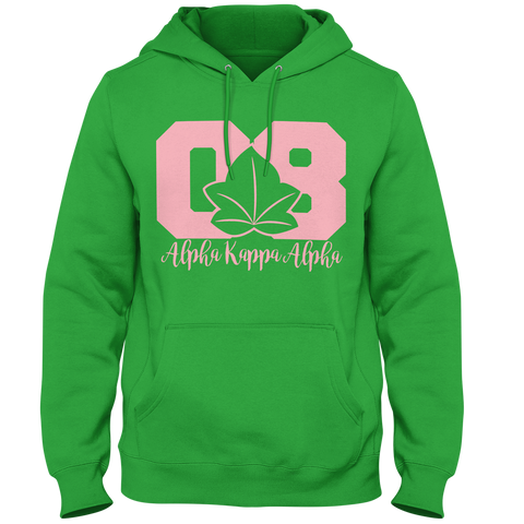 Alpha Kappa Alpha Founded Hoodie - Letters Greek Apparel - Black Greek Paraphernalia