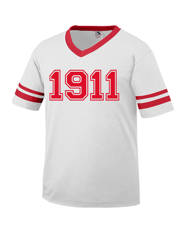 Kappa Alpha Psi 1911 Stripe Tee - Letters Greek Apparel - Black Greek Paraphernalia