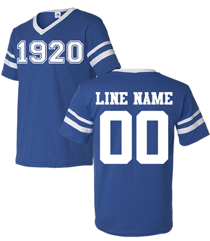 Zeta Phi Beta Custom Crossing Jersey - Letters Greek Apparel - Black Greek Paraphernalia - Divine Nine Greek Apparel