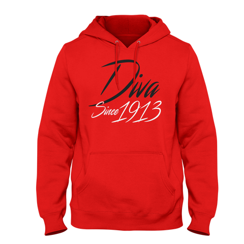 Delta Sigma Theta Diva Since 1913 (Red) - Letters Greek Apparel - Black Greek Paraphernalia