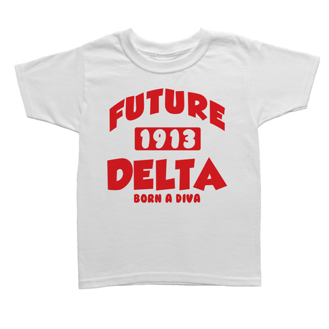 Future Delta Sigma Theta Toddler Tee - Letters Greek Apparel - Black Greek Paraphernalia