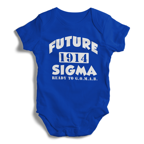Baby Phi Beta Sigma Onesie (Blue) - Letters Greek Apparel - Black Greek Paraphernalia