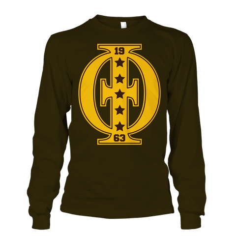 Iota Phi Theta Varsity Long Sleeve T-Shirt - Letters Greek Apparel - Black Greek Paraphernalia