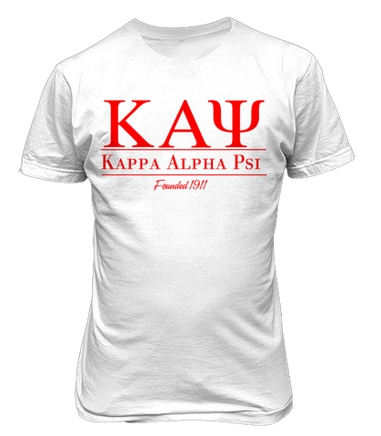 kappa alpha psi Collegiate Tee - Letters Greek Apparel - Black Greek Paraphernalia