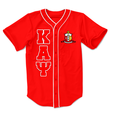 Kappa Alpha Psi Embroidered Greek Baseball Jersey - Letters Greek Apparel-Black Greek Paraphernalia-Divine Nine Apparel