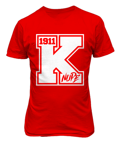Kappa Alpha Psi Varsity Tee - Red - Letters Greek Apparel - Black Greek Paraphernalia
