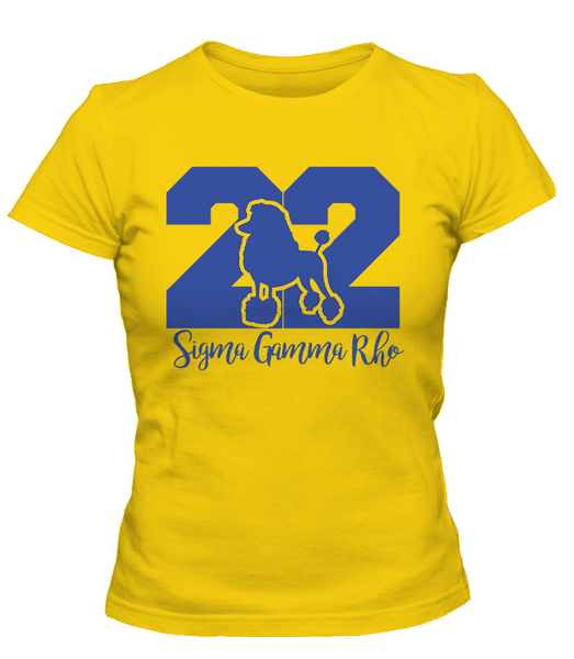 SGRHO Founded Tee - Gold - LettersGreekApparel