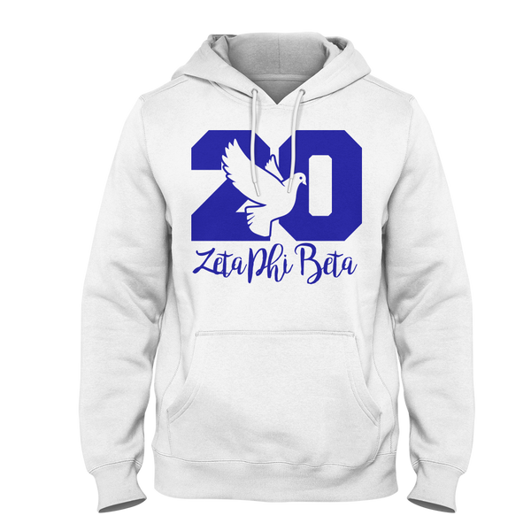 Zeta Phi Beta Founded Hoodie (Blue) - Letters Greek Apparel - Black Greek Paraphernalia