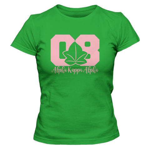 Alpha Kappa Alpha Founded Tee - Letters Greek Apparel - Black Greek Paraphernalia