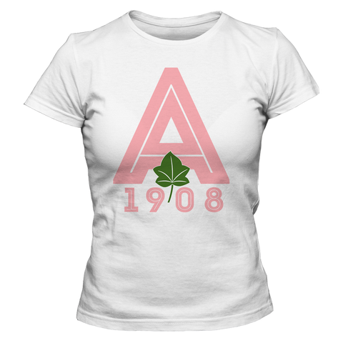 Alpha Kappa Alpha Letterman Tee - Letters Greek Apparel - Black Greek Paraphernalia