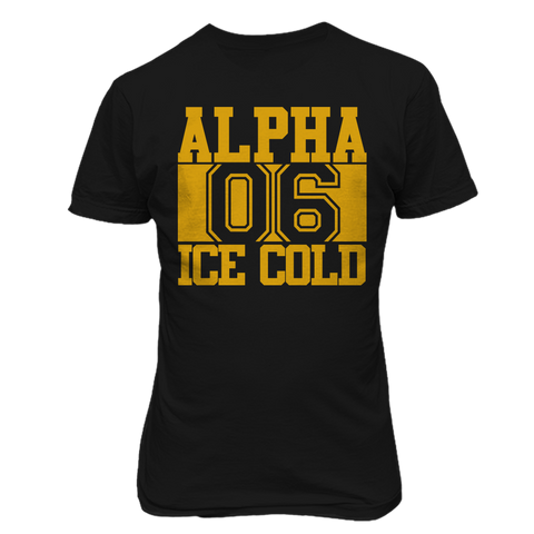 Alpha Phi Alpha 06 Chant Tee - Black - Letters Greek Apparel - Black Greek Paraphernalia