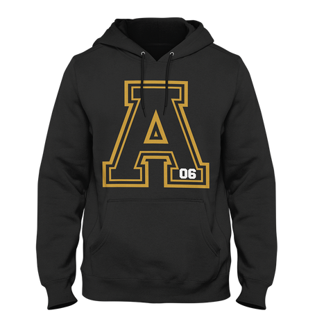 Alpha Phi Alpha Varsity Hoodie - Letters Greek Apparel - Black Greek Paraphernalia