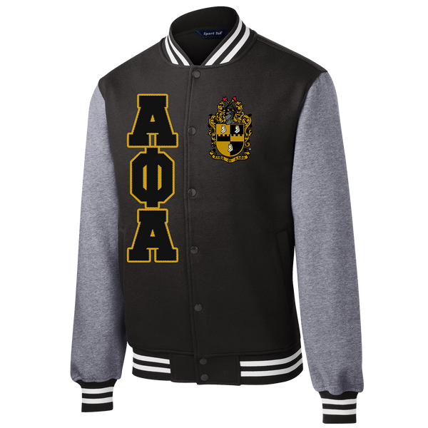 Alpha Phi Alpha Varsity Greek Fleece Jacket