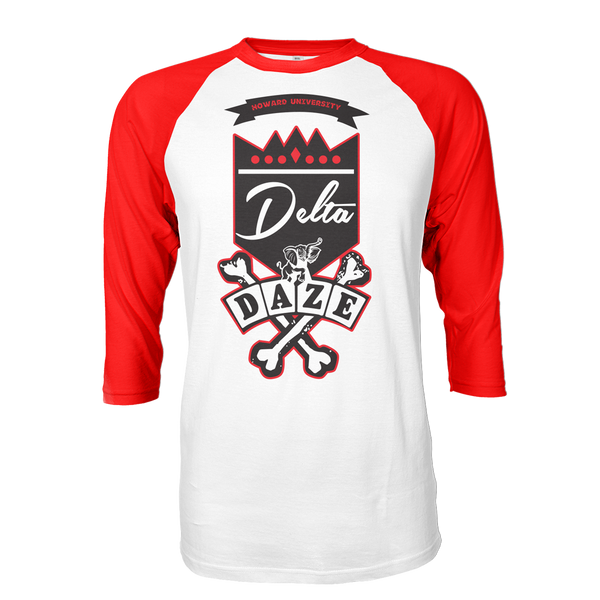 Delta Sigma Theta School Daze Raglan - Letters Greek Apparel - Black Greek Paraphernalia