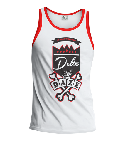 Delta Sigma Theta School Daze Tank Top - Letters Greek Apparel - Black Greek Paraphernalia