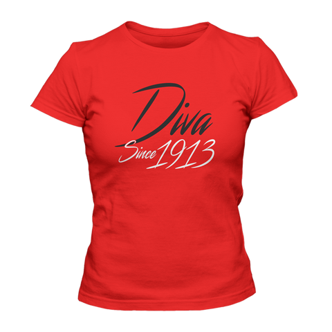 Delta Sigma Theta Diva Since 1913 - Letters Greek Apparel - Black Greek Paraphernalia