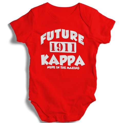 Baby Kappa Alpha Psi Baby Onesie (Red) - Letters Greek Apparel - Black Greek Paraphernalia