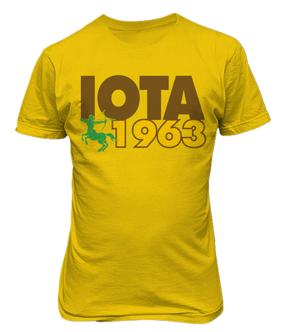 Iota Phi Theta 1963 Founding Year T-Shirt - Letters Greek Apparel-Black Greek Paraphernalia-Divine Nine Apparel