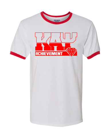 Kappa Alpha Psi Dream Ringer Tee - Letters Greek Apparel - Black Greek Paraphernalia