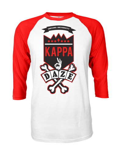 Kappa Alpha Psi Skool Daze Raglan - Letters Greek Apparel - Black Greek Paraphernalia