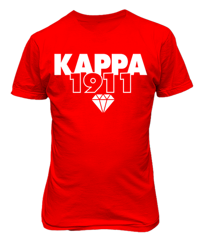 Kappa Alpha Psi 1911 Founding Year T-Shirt - Letters Greek Apparel-Black Greek Paraphernalia-Divine Nine Apparel