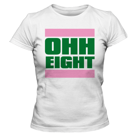 Alpha Kappa Alpha OHH Eight - Letters Greek Apparel - Black Greek Paraphernalia
