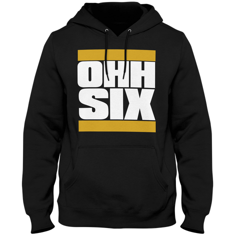 Alpha Phi Alpha OHH Six Hoodie - Letters Greek Apparel - Black Greek Paraphernalia
