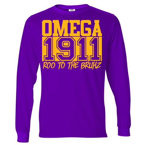 Omega Psi Phi Chant Long Sleeve T-Shirt - Letters Greek Apparel - Black Greek Paraphernalia