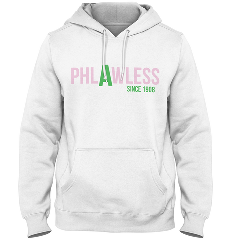 Alpha Kappa Alpha Phlawless Hoodie - Letters Greek Apparel - Black Greek Paraphernalia