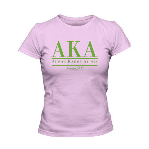 Alpha Kappa Alpha Collegiate - Letters Greek Apparel - Black Greek Paraphernalia