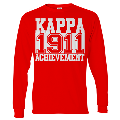 Kappa Alpha Psi Chant Long Sleeve T-Shirt - Letters Greek Apparel - Black Greek Paraphernalia