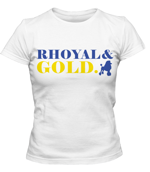 Sigma Gamma Rho Rhoyal & Gold T-Shirt - Letters Greek Apparel - Black Greek Paraphernalia