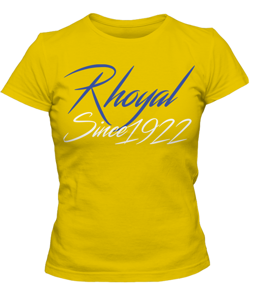 Sigma Gamma Rho RHOyal Since 1922 - Letters Greek Apparel - Black Greek Paraphernalia
