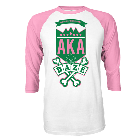 Alpha Kappa Alpha School Daze Raglan - Letters Greek Apparel - Black Greek Paraphernalia