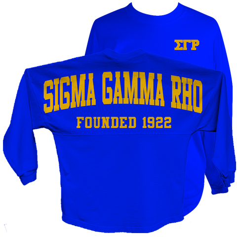 Sigma Gamma Rho Spirit Jersey (Blue) - Letters Greek Apparel - Black Greek Paraphernalia