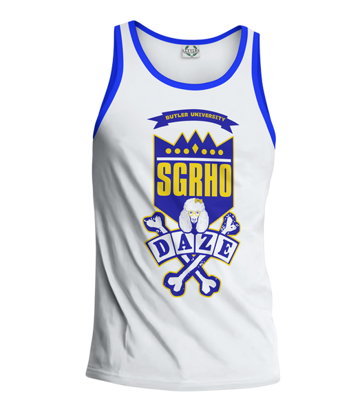 Sigma Gamma Rho School Daze Tank - Letters Greek Apparel - Black Greek Paraphernalia