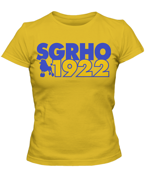 Sigma Gamma Rho 1922 Founding Year T-Shirt - Letters Greek Apparel-Black Greek Paraphernalia-Divine Nine Apparel